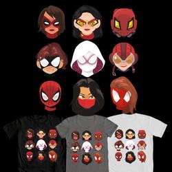 Spider-Gals Design by ComickerGirl