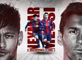 Neymar and Messi Wallpaper (FC Barcelona Duo) by RakaGFX