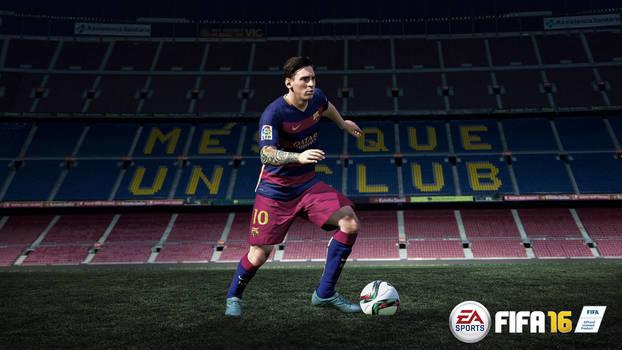 Lionel Messi FIFA 16 Wallpaper by RakaGFX