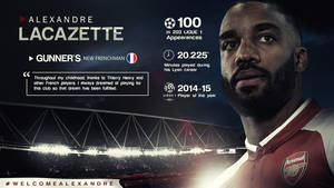 Alexandre Lacazette 2017/18 Wallpaper by RakaGFX