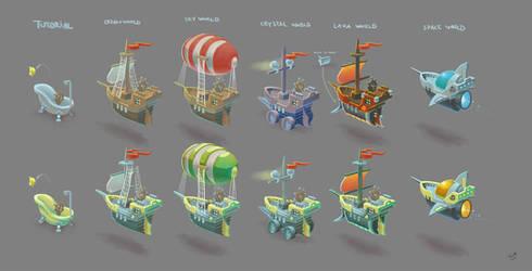 Scallywags Ships by MaansRune
