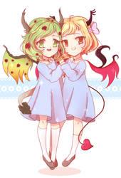 Cute girls by WareWare-san