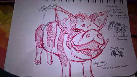 H-Pig Sketch #1 by hannerrp