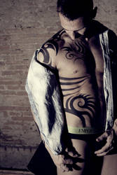 Tekken inspired tattoo bodypainting 2 by ArtistOfMyself