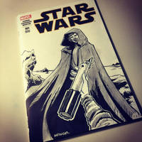 Luke skywalker sketch cover by BrianKesinger