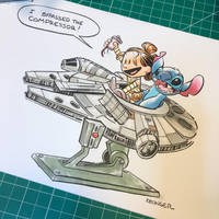 Rey and stitch by BrianKesinger