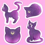 Luna Sticker Designs! by rubiesriot
