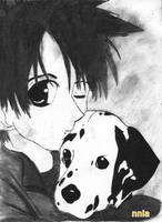 Boy and dog by nnia