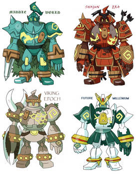 Golurk Variations By Kurigaru On Deviantart