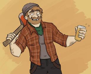 Hipster Lumbersexual meets Jack Torrance in Hell by ace-murdock