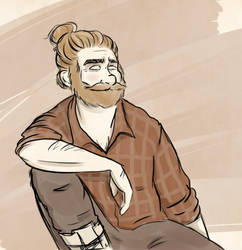 Man Bun by ace-murdock