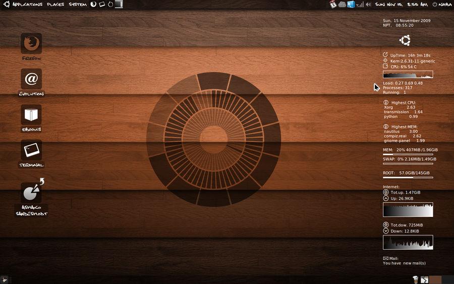 My Beloved Ubuntu Desktop by lalitpatanpur