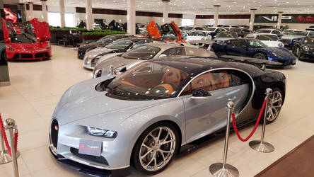 Chiron, 3 Veyrons, 918 Spyder and a LaFerrari by haseeb312