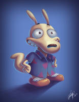 + Quick Painting - Rocko's Modern Life + by KyseL