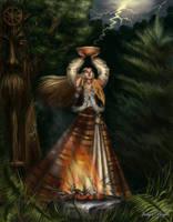Priestess by Araniart