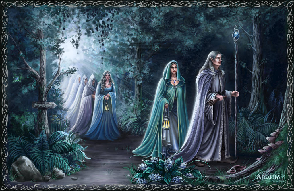 Elves leave Middle Earth by Araniart