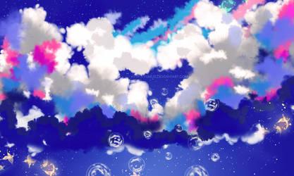 Sky seen from below by Yumijii