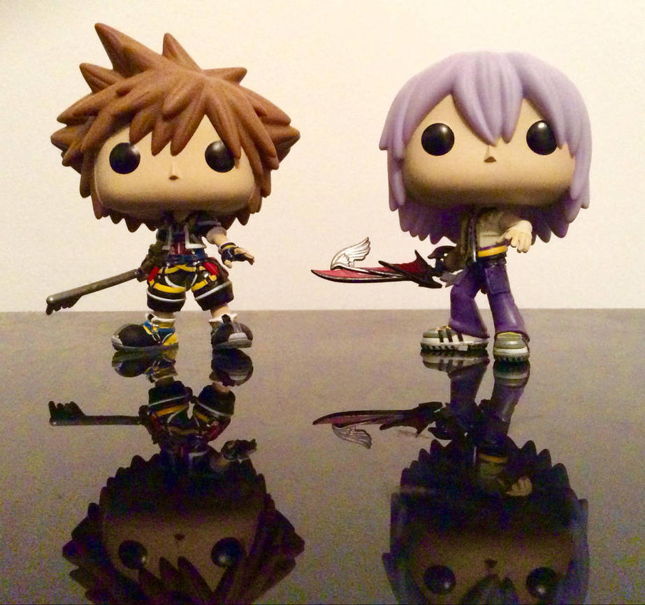 Sora and Riku Pop Vinyls by TheRightWriter