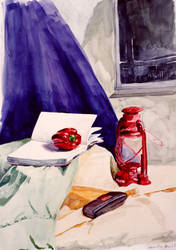 Watercolour Still Life by black-racoon