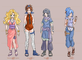 Team Kunoichi -- colors by askerian