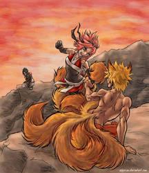 KyuunaruSaku - fight by askerian