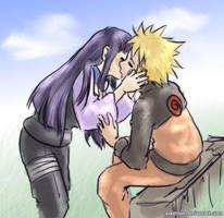 quick naruhina kiss by askerian