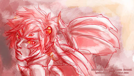 Demon Patrol Karkat sketch by askerian