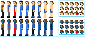 Birthday Gift - My Human Euan Mort Sprites by GuardianSoulMLP