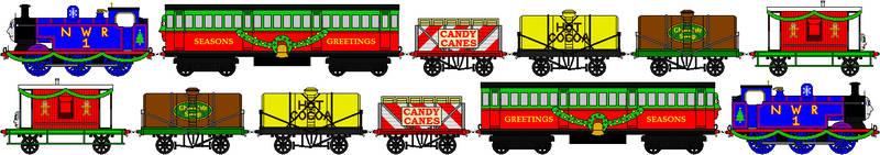 Thomas' Christmas Train Sprites by GuardianSoulMLP