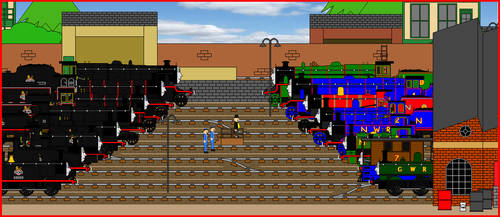 RWS - Eight Famous Engines Scene Remake by GuardianSoulMLP