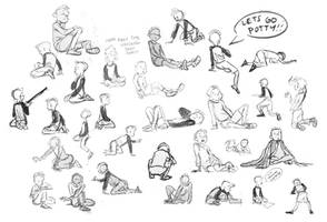 Kid life drawing by Britt315