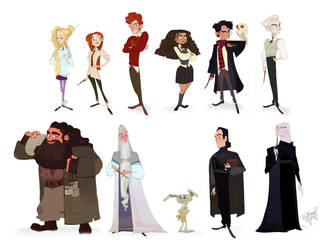Some Harry Potter Characters by Britt315