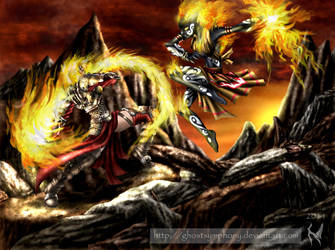 Duel of Flames by Ghostsymphony