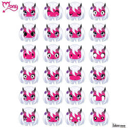 Di Mony facial expressions  by LuisxOlavarria