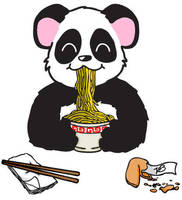 The Hungry Panda by OXHeartAttackXO