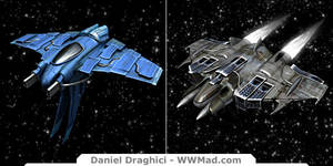 WWMAD - Human Ships 1 - 2 by DXBigD