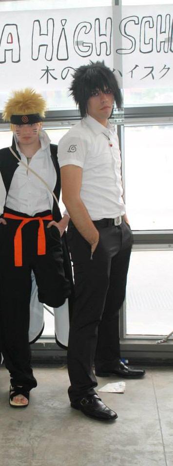 Naruto and Sasuke 2 - Konoha High School by HinaNekosama