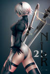 2b, Nier Automata (Updated) by EverHobbes