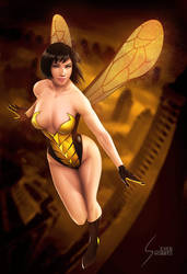 Wasp, Ant Man and the Wasp, Swimsuit Version by EverHobbes