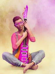 Guitar player by bellatryxxx