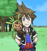 Sora and Chespin xD by StarletHeaven