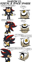 Shadow vs. Space sphere comic by NetRaptor