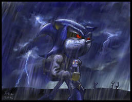 Mecha in the rain by NetRaptor