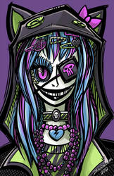 Scary Harajuku Girl by DragonBeak