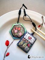 Japanese Cuisine Phone Charms by DragonBeak