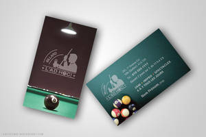 Business Card -Billard l'AdHoc by joanniegoulet
