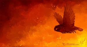 Fire Owl Speedpaint by joanniegoulet