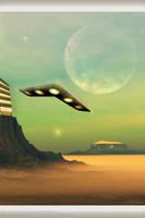 ChevronShape UFO fraternizatio by Swaroop