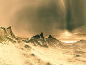 Landscape of gold by Swaroop