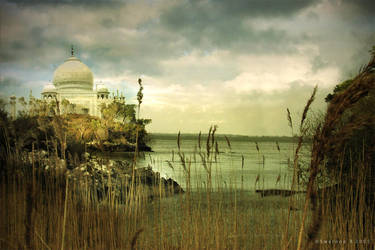 Taj before the tempest by Swaroop